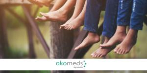 Medicine translation and chiropody facing feet pathologies and pains